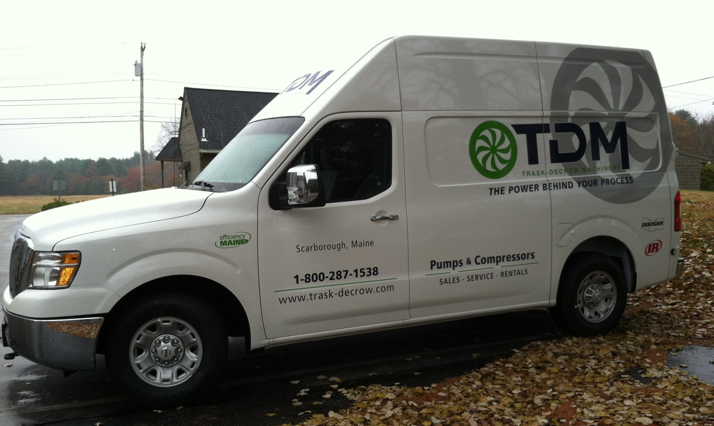 Truck with new TDM logos