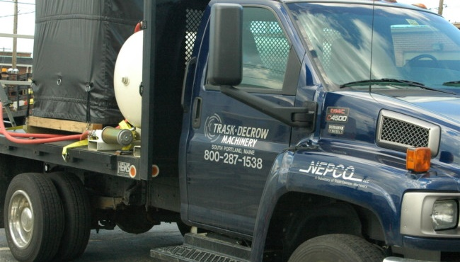 Truck with NEPCO logo