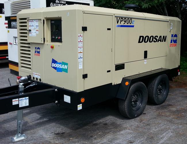 Doosan Vp900 Portable Electric Air Compressor At Tdm