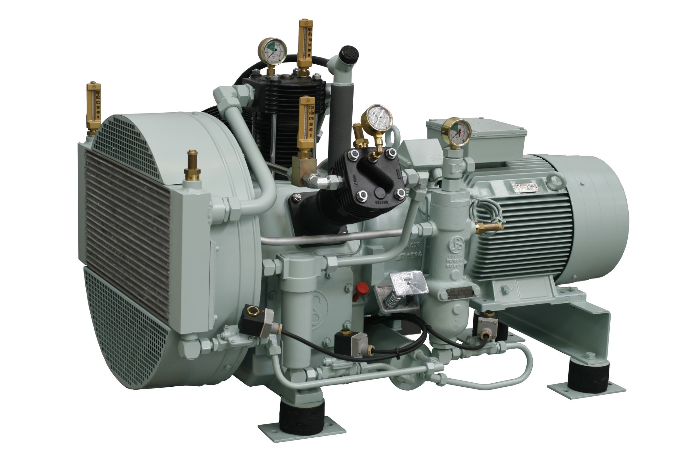 High Pressure Gas Compressor : Sauer compressors trask decrow machinery